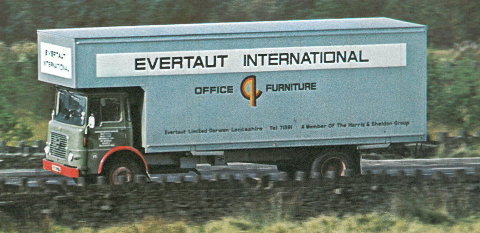 Evertaut Internation lorry transporting office furniture in the 1970s