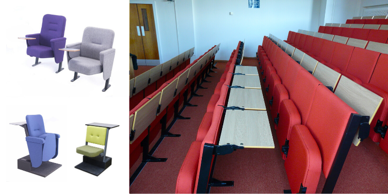 Study and conference seating for religious buildings