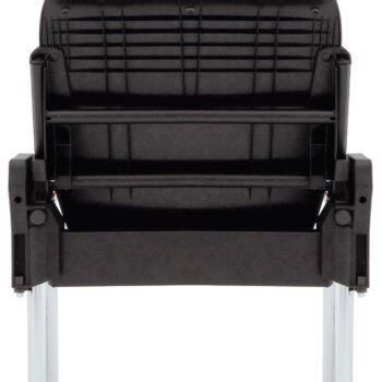 social distancing chair with flip up seat and floor fixing legs