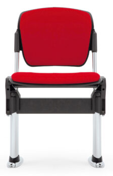 Social distancing seat with flip-up seat